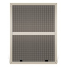 tan solar window screen double hung