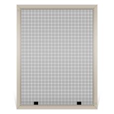 Custom Fiberglass Window Screen, Frame Color: Tan, Screen Material: Charcoal Fiberglass