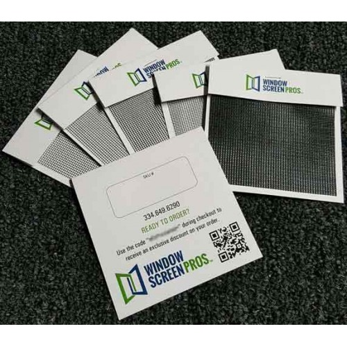 Group of sample cards