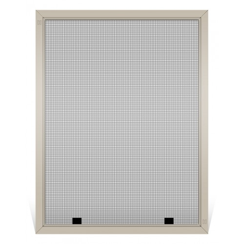 Champion Replacement Window Screen, Frame Color: Tan, Screen Material: Grey Fiberglass