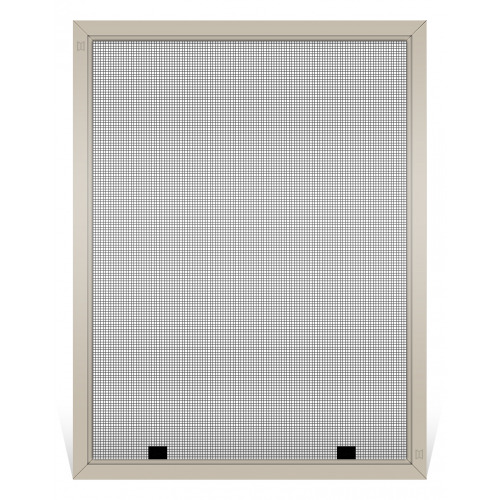 Champion Replacement Window Screen, Frame Color: Tan, Screen Material: Charcoal Fiberglass